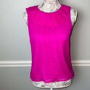 J. Crew Silk Pink Sleeveless Shirt 2